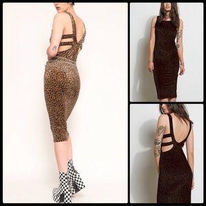 Stone Row x Volcom Del Reyzz Leopard Dress NWT